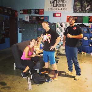 Alexis came to cheer on our Death By Barbell Athletes…she is one tough cookie. Speedy Recovery!!!