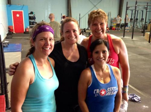 Lovely Ladies of Saturday's 100 Round WOD. They are still smiling!